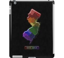 LGBT Equality New Jersey Rainbow Map - LGBT Equality iPad Case/Skin