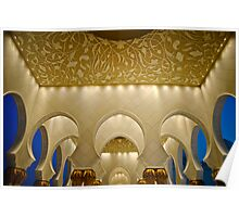 Sheikh Zayed Grand Mosque top Poster