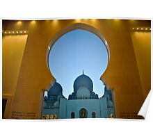 Sheikh Zayed Grand Mosque shape Poster