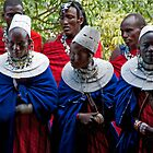 Young Masai Men And Women by phil decocco