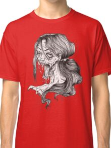 Shut Your Mouth Zombie (White) Classic T-Shirt