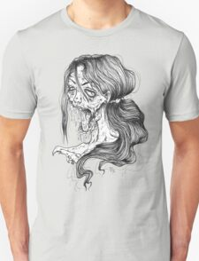 Shut Your Mouth Zombie (White) Unisex T-Shirt