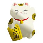 Lucky Cat White by thedustyphoenix