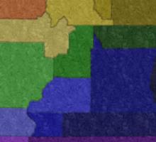 LGBT Equality Utah Rainbow Map - LGBT Equality Sticker