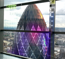 London Gherkin Tower Sticker