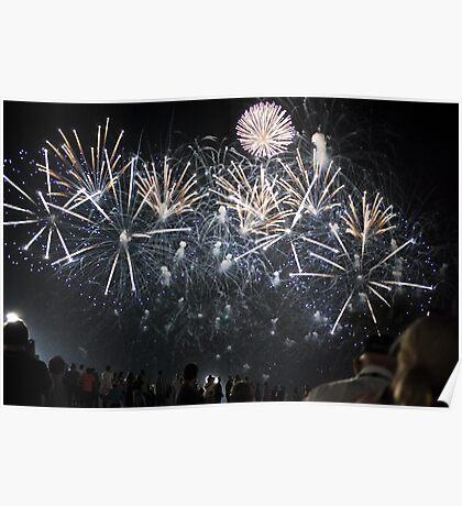 Fireworks Vettel Victory Poster