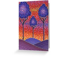 3 Little Autumn Trees Greeting Card