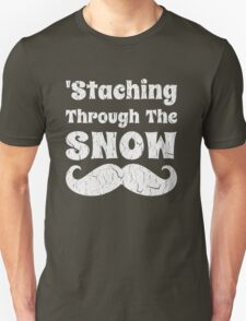 Staching Through The Snow Funny Christmas Design T-Shirt