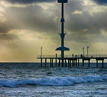 Brighton Jetty at Dusk by Annela