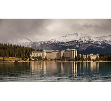 The Beautiful Chateau at Lake Louise Canada Photographic Print