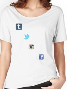 the social media ladder Women's Relaxed Fit T-Shirt