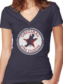 Starfighter Original Women's Fitted V-Neck T-Shirt