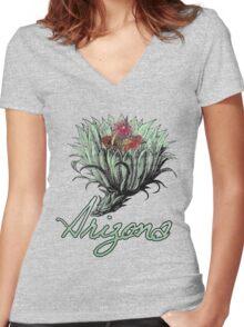 arizona. Women's Fitted V-Neck T-Shirt