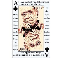 Charles Bukowski. The Ace Of Clubs Photographic Print