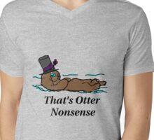 Otter Nonsense Mens V-Neck T-Shirt