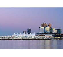 Vancouver's Canada Place After Sunset Photographic Print