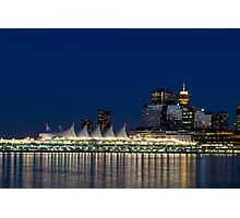 Vancouver at Blue Hour Photographic Print