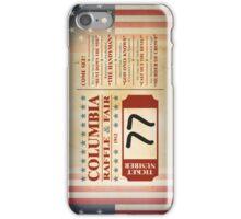 Columbia Raffle Ticket iPhone Case/Skin