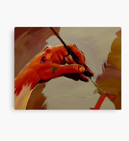 Hand Painted Painted Hand Painting Traditional Painting  Canvas Print