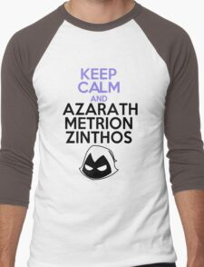 Keep Calm and Azarath Mentrion Zinthos Men's Baseball ¾ T-Shirt