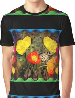 Yellow and Red Poppies  Graphic T-Shirt
