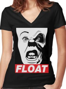 PENNYWISE HAS A POSSE: Float Propaganda Print Women's Fitted V-Neck T-Shirt