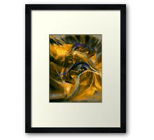 Meanwhile at the Pond Framed Print