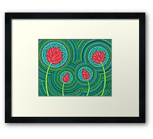 Lotus Family of 4 Framed Print