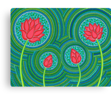 Lotus Family of 4 Canvas Print