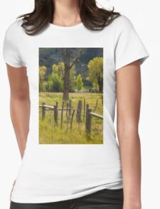 Fence Posts Womens Fitted T-Shirt