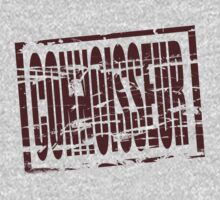 Connoisseur claret rubber stamp effect One Piece - Short Sleeve