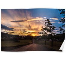 Lithgow Sunset Poster