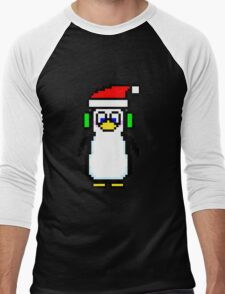 Pixel Penguin 2.0 Men's Baseball ¾ T-Shirt