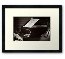 Grand Piano and Music Notes Framed Print