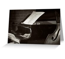 Grand Piano and Music Notes Greeting Card