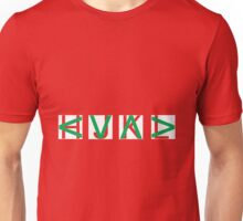 HJKL (Green Arrows + Text Transparency) Unisex T-Shirt