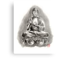 Buddha Medicine sumi-e tibetan calligraphy 禅 figure sculpture original ink painting artwork Metal Print