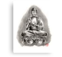 Buddha Medicine sumi-e tibetan calligraphy 禅 figure sculpture original ink painting artwork Canvas Print