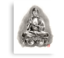 Buddha Medicine sumi-e tibetan calligraphy 禅 figure sculpture original ink painting artwork Canvas Print