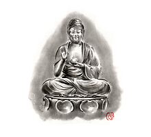 Buddha Medicine sumi-e tibetan calligraphy 禅 figure sculpture original ink painting artwork Photographic Print