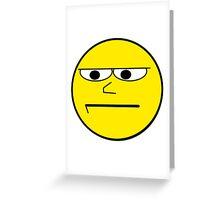 Unimpressed and Disapproving Smiley - Funny Nerd Geek Meme Greeting Card