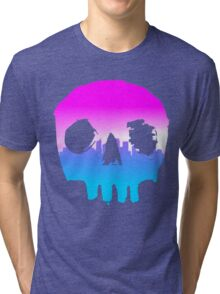 SKYLINE SKULL #2 Tri-blend T-Shirt