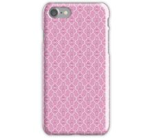 Pink Elegant Damask Pattern iPhone Case/Skin