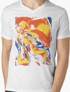 Girl Mens V-Neck T-Shirt