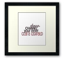channel clara Framed Print