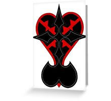 heartless and nobodies symbol Greeting Card