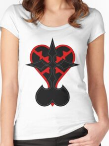 heartless and nobodies symbol Women's Fitted Scoop T-Shirt