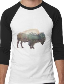 Bison and Independence Mine Men's Baseball ¾ T-Shirt