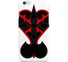 heartless and nobodies symbol iPhone Case/Skin