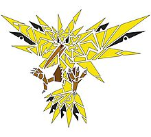 Tribal Zapdos Pokemon Photographic Print